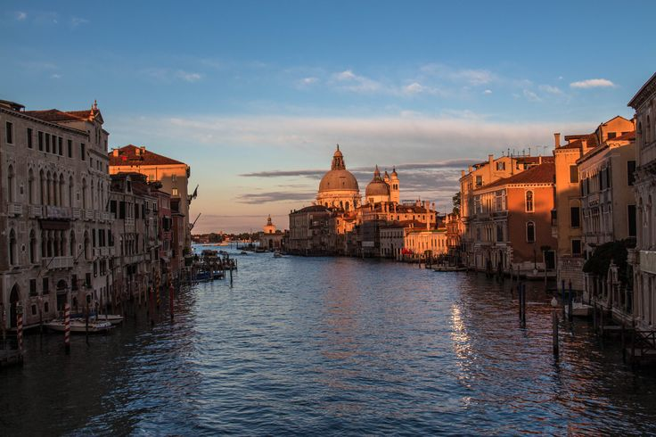 Sunset over the Grand Canal, Venice.