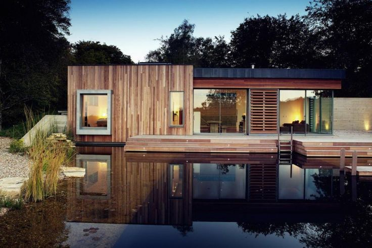 Modern Plan Of Single Storey House With Wooden Facade Over The Lake Plans modern single storey houses : Know What You Should Do Home design