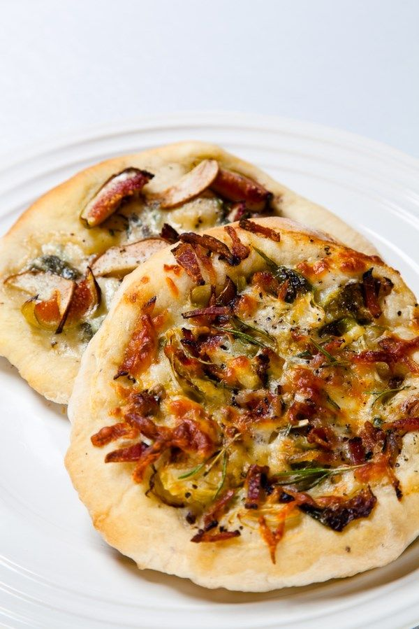 Roasted Brussels Sprouts with Bacon Pizza