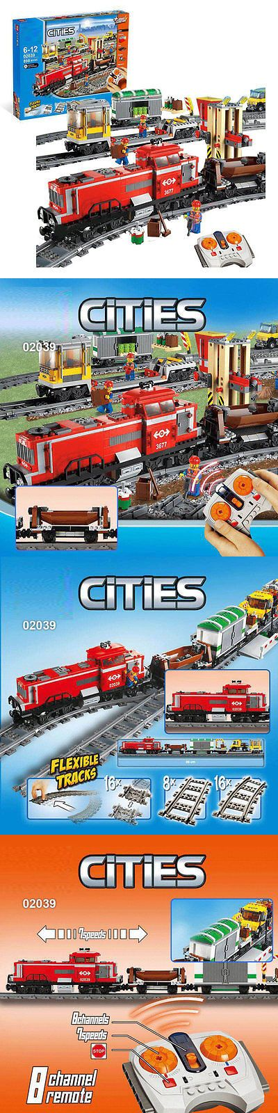Other Building Toys 19015: Red Cargo Train Custom Replica Lego City 3677 -Express Delivery -No Box -> BUY IT NOW ONLY: $99.99 on eBay!