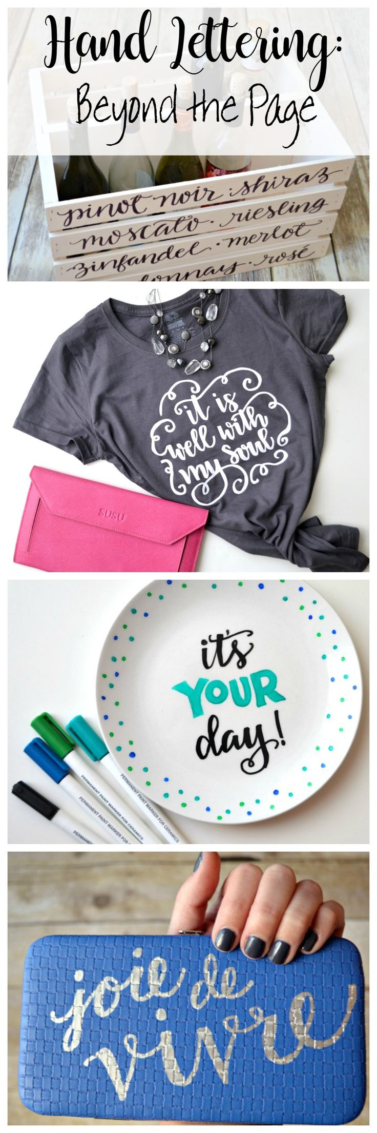 Hand Lettering Beyond the Page. Need ideas for what to do with your hand lettering? This is the post for you! | One Arsty Mama for DawnNicoleDesigns.com