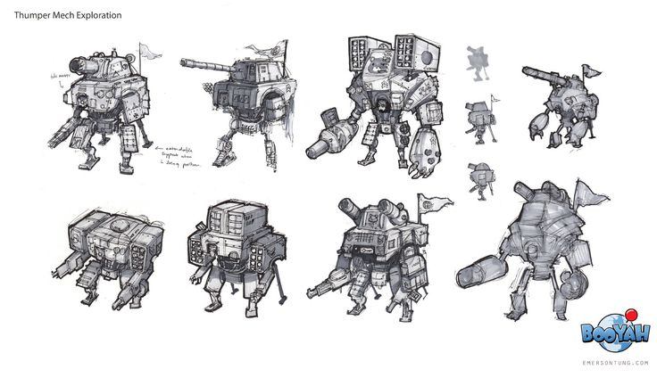ArtStation - Turn Based Strategy Robot Game (2011), Emerson Tung