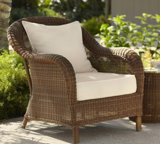 Palmetto All Weather Wicker Lounge Chair Honey Wicker