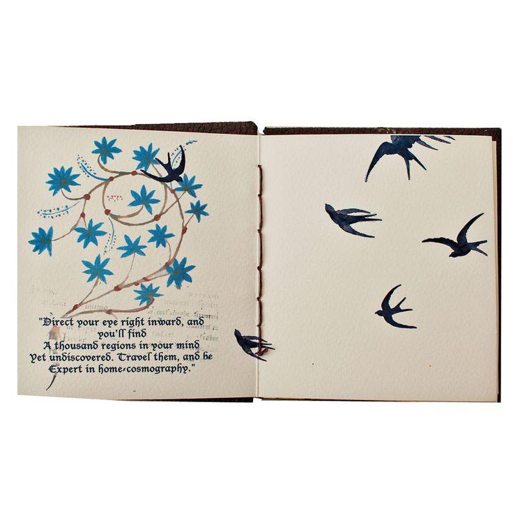Renewed to my #etsy shop: Journal , Inspirational journal, personalised aide-memoir, travellers notebook, sketchbook, birthday book, Book Art,  #booksandzines #journal #white #birthday