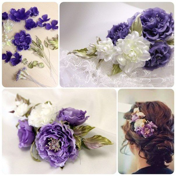 Gorgeous, handmade silk flowers by Lilia Marchenko