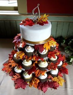 Fall Cake And Cupcake Design Ideas For Parties Wedding Showers Etc