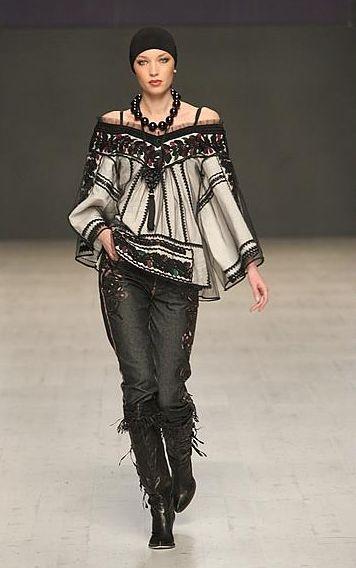 I want this entire outfit!  I love it!  By Roksolyana Bohuts'ka