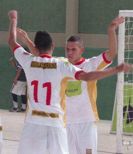 Empate a 2 tantos entre #LanúsColombia y #ÁguilasDoradas. #FútbolRevolucionado