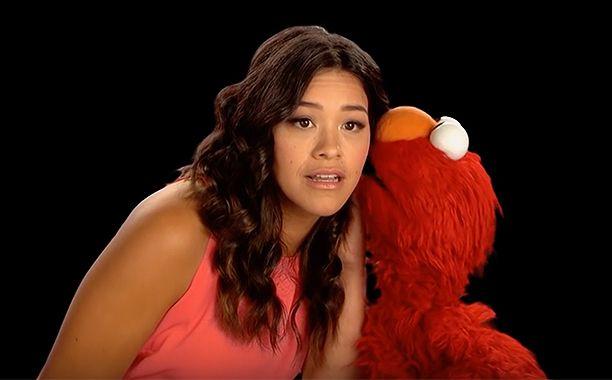 'Sesame Street': Gina Rodriguez teaches Elmo the ABC's inSpanish