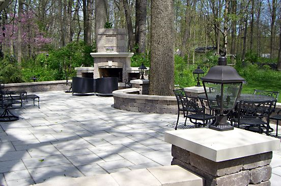 Stone Patio And Fireplace, Indiana Limestone Pavers And Pier Caps | Outdoor  Areas | Pinterest | Limestone Pavers, Stone Patios And Patios  Patio And Fireplace