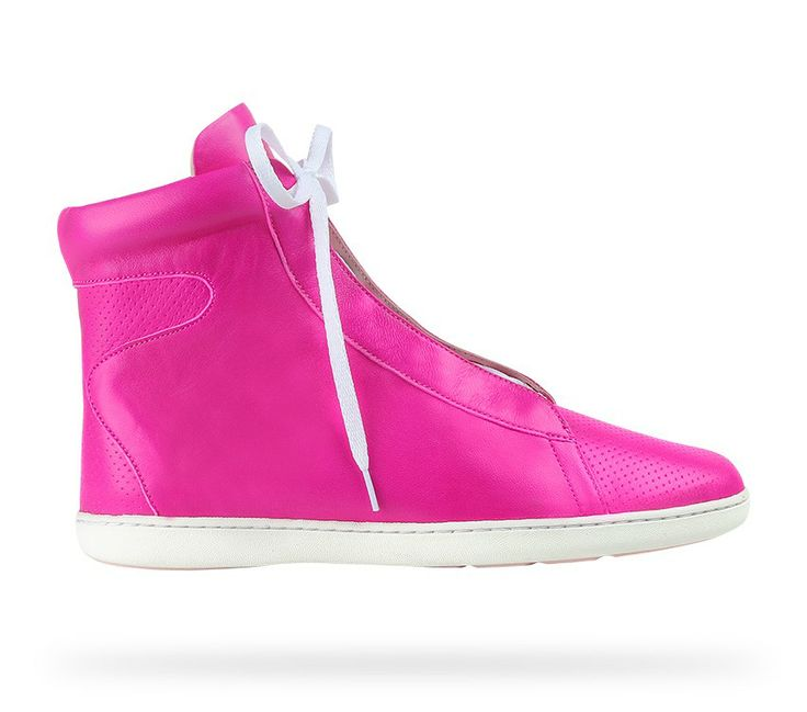 High top sneaker Impulse Lambskin Diva pink by Repetto - Collection spring-summer 2014. #Repetto #RepettoSneakers #RepettoRunners