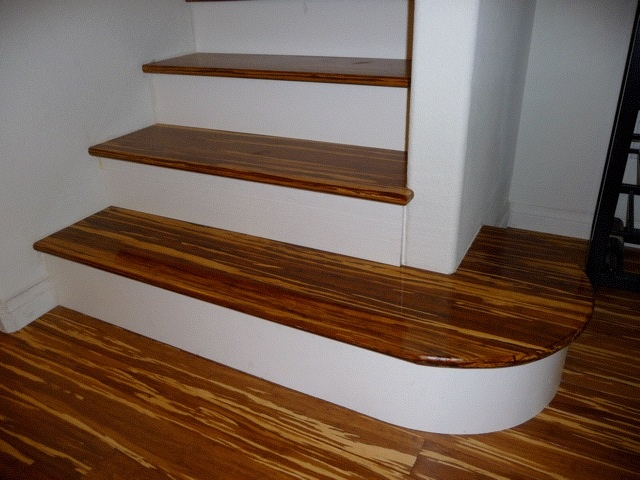 Also Called Tiger Bamboo Flooring, This Truly Unique Floor Is Often  Installed At A Diagonal To Enhance ...