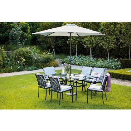 Garda 6 Seater Metal Garden Furniture Set My Work 400 x 300