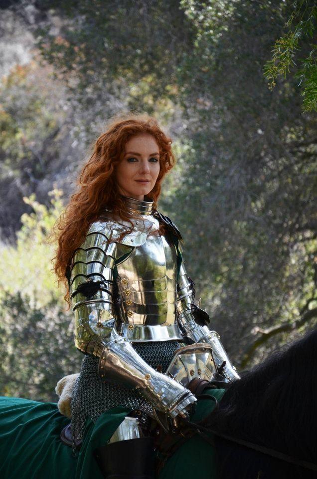 Virginia Hankins - professional female knight, stunt rider, woman warrior, stunt horse trainer, and woman jouster.: