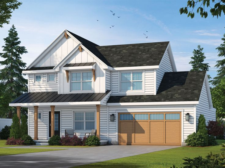031h 0440 Two Story House Plan In 2020 Craftsman House Plans Two Storey House Plans House Plans Farmhouse
