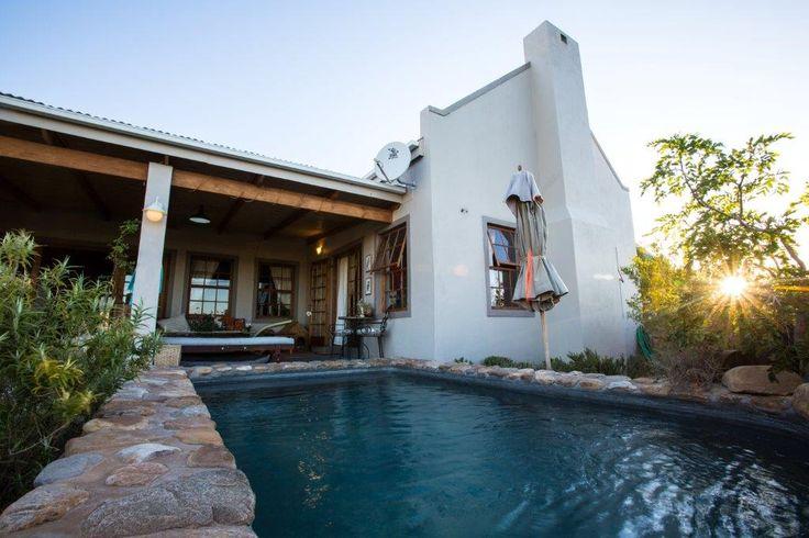 Karoo View Cotttages Prince Albert. Beautiful pool. Prince Albert accommodation.