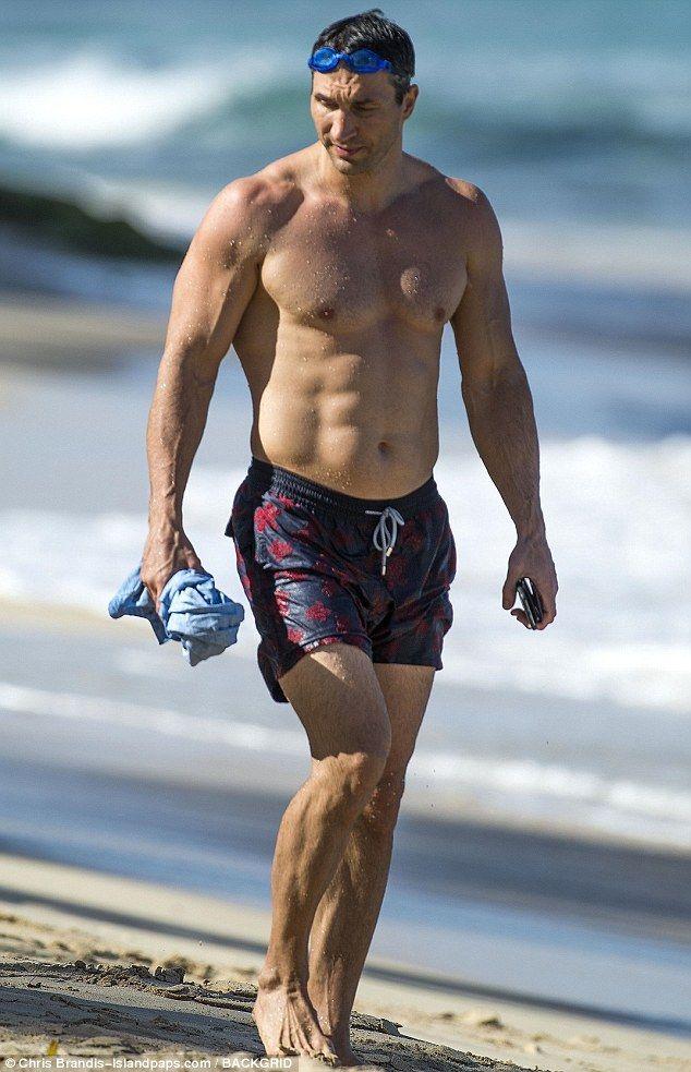 Boxer Wladimir Klitschko on holiday in Barbados.