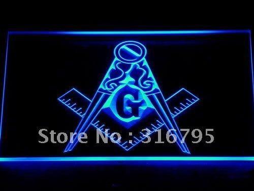 710 Masonic Mason Freemason Emblem LED Neon Sign with On/Off Switch 20+ Colors 5 Sizes to choose