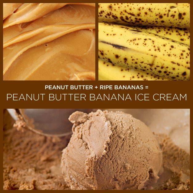 two ingredient recipe - peanut butter + banana = peanut butter banana ice cream. Can't wait to try it!