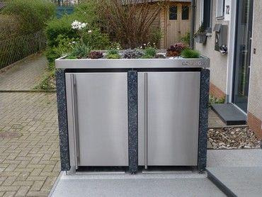 Mülltonnen-Verkleidung Granit Pflanzwanne