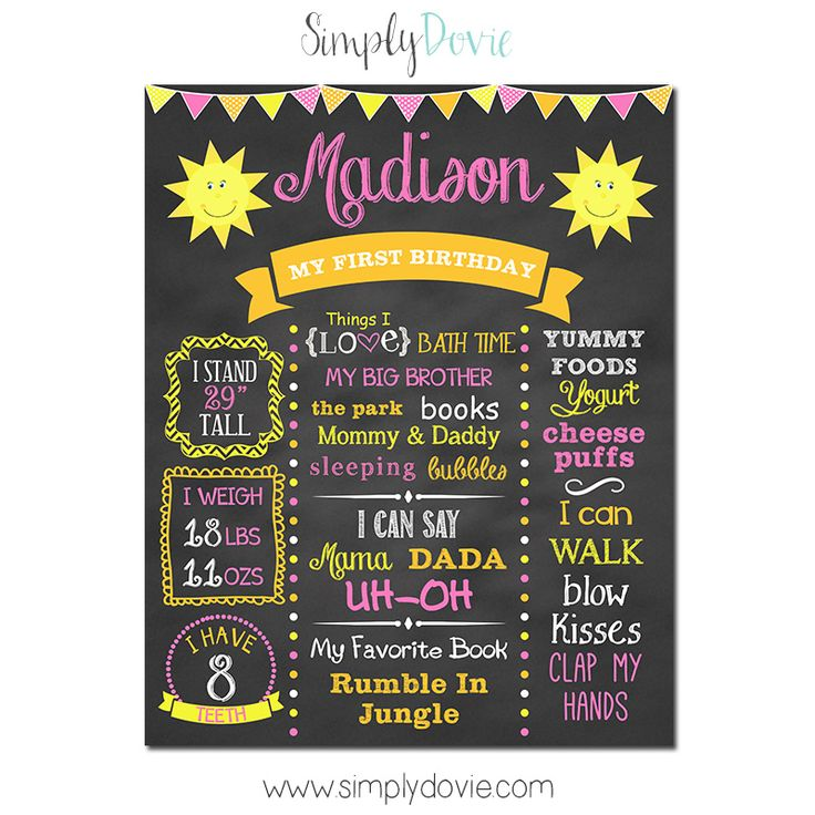 wording ideas forst birthday party invitation%0A This You Are My Sunshine First Birthday Chalkboard Poster