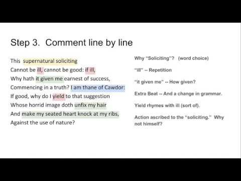 (22) Writing A Commentary on a Short Passage from Shakespeare - YouTube
