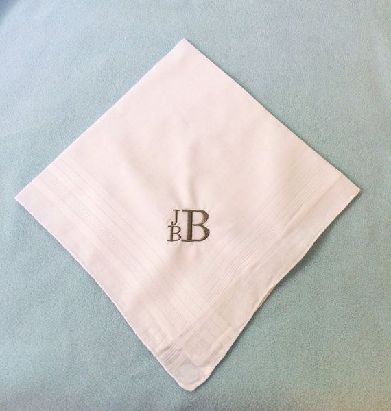 Embroidered Handkerchief Monogrammed By Babygracehouston
