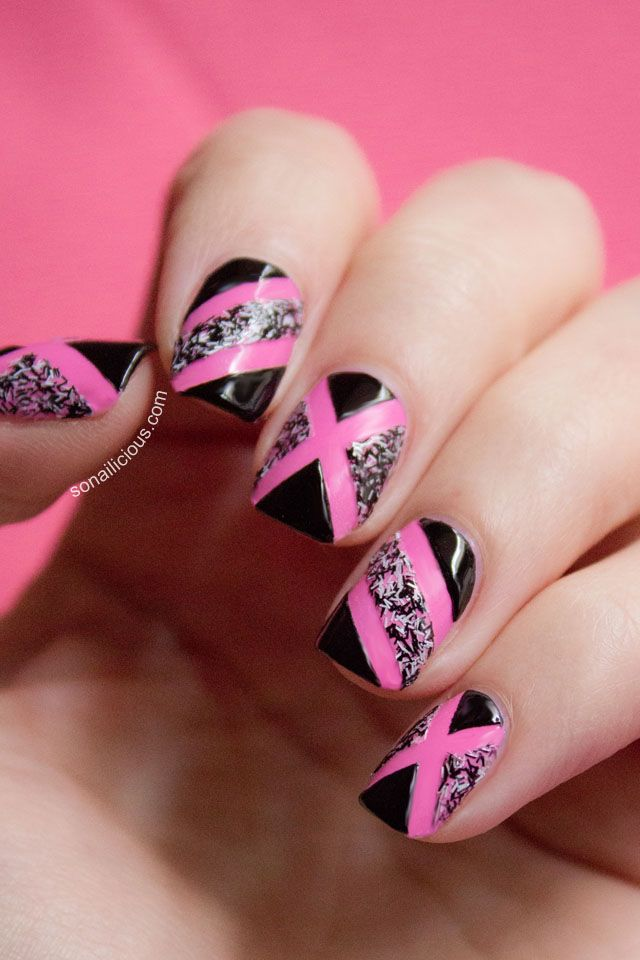 Pink Nails. From 5 Ways To Wear Sally Hansen Fuzzy Coat series. Click to see more nail art. #pink #nails #nailart