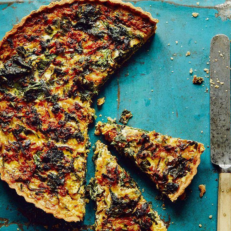Sweat onion, add grated butternut squash & kale for few mins. Add eggs, milk, grated gruyere.