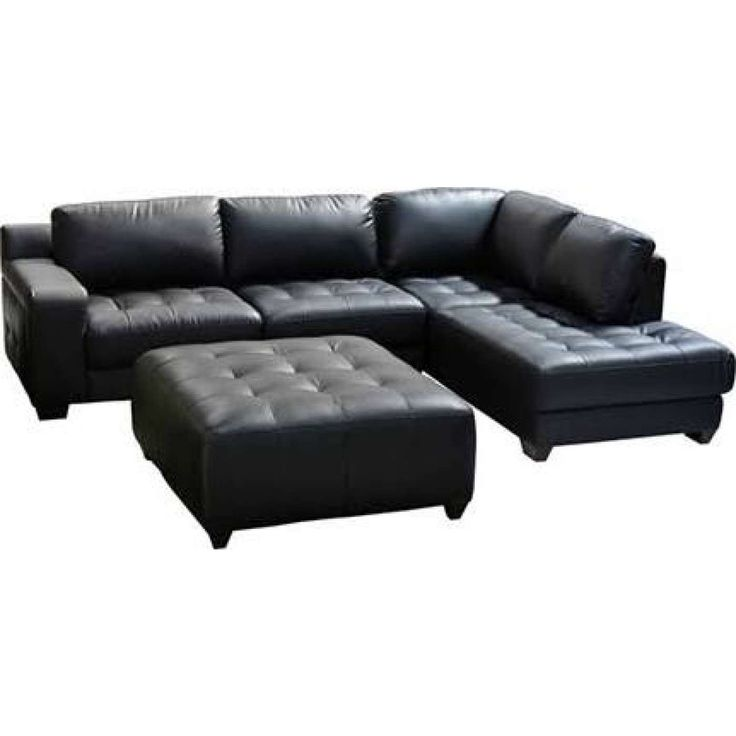 laredo black bonded leather 4 piece sectional sofa set with console table