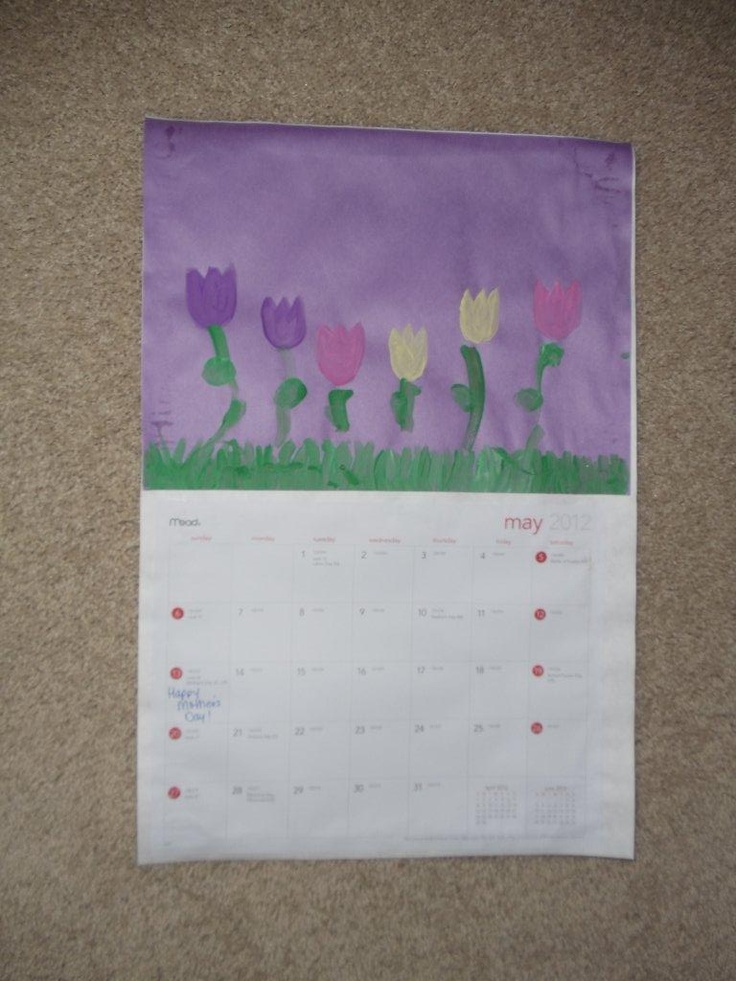 May - This is what my daughter and granddaughter made for a calendar Christmas gift.