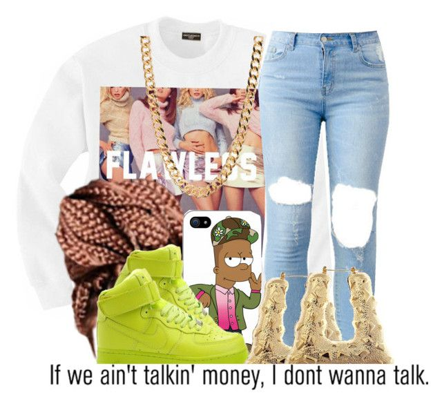 """""""December 25, 2K14"""" by angel-westt ❤ liked on Polyvore featuring Tribes, NIKE and AG Adriano Goldschmied"""