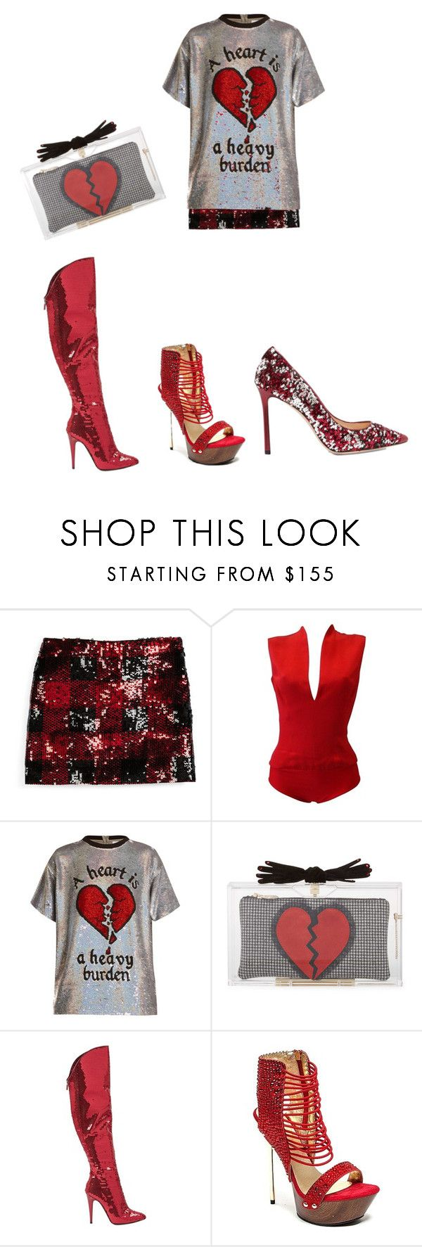 """""""Broken Hearts Club"""" by mskillgalore on Polyvore featuring Ralph Lauren, Versace, Ashish, Charlotte Olympia, Steiger and Jimmy Choo"""