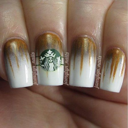 e not the Starbuck symbol but I love the white and gold.