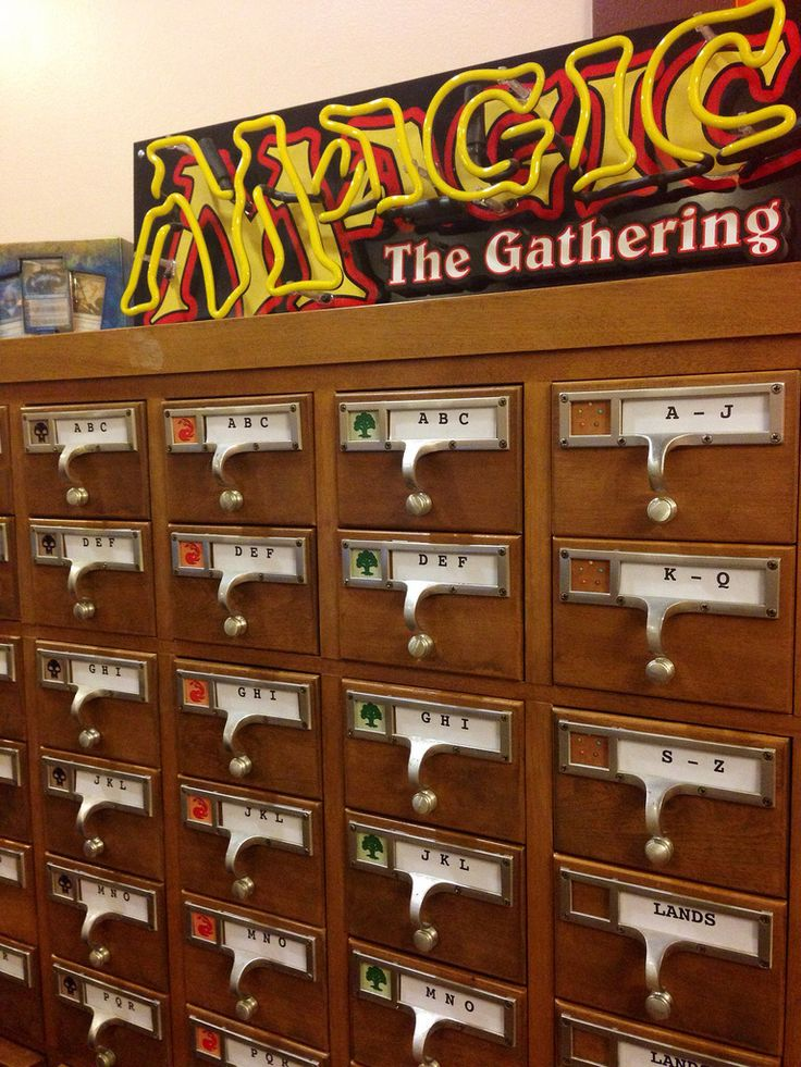 This is so cool.  I would do this for you #Muurg.    Magic: The Gathering Card Catalog by Brendaisbored  This is awesome, I want it.  Repurposed library catalogue? *drool*