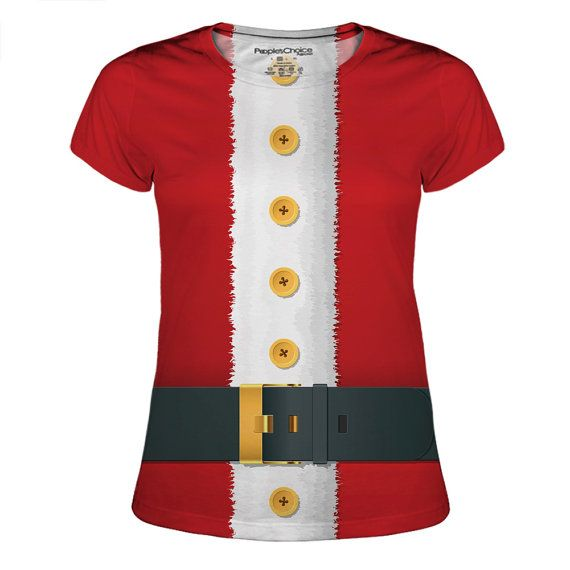 Junior Ms Santa Christmas Holiday All Over by PeoplesChoiceApparel