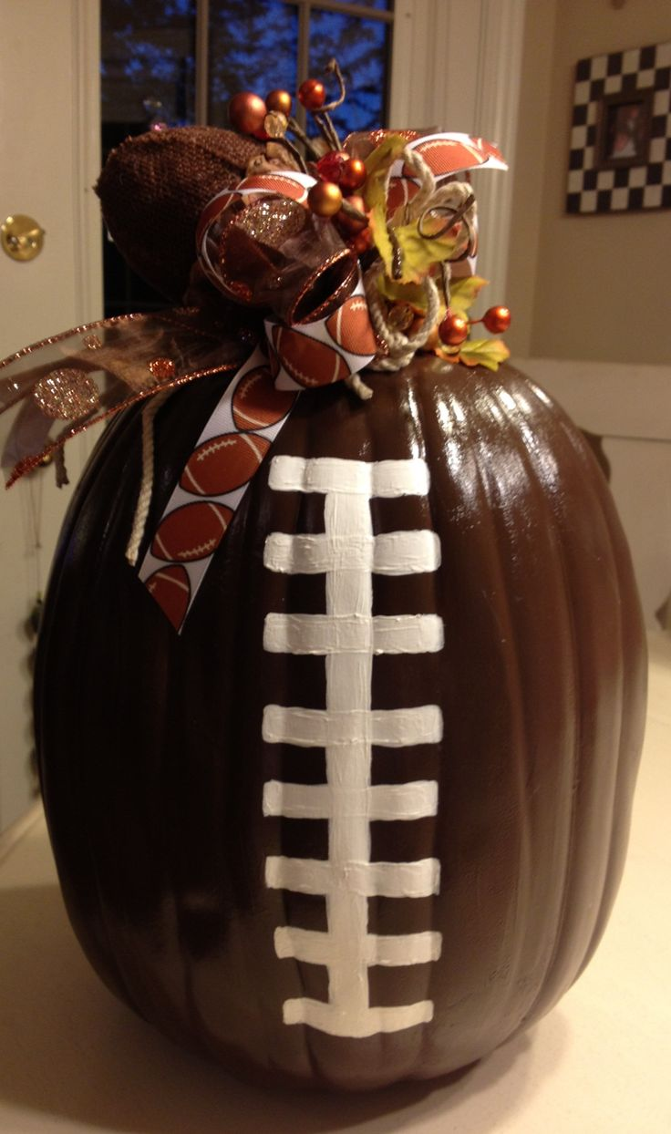 pumpkin football for your tailgate table
