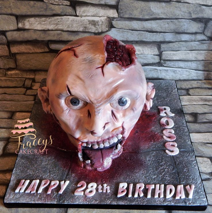 Zombie head cake. The Walking Dead