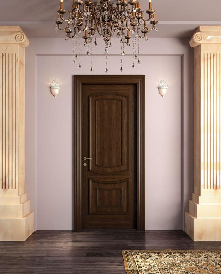 FBP porte | Collezione Vittoria: Mod. 2C3 - Noce nazionale bicolore scuro-Dark bicoloured national walnut #porta #legno #madeinitaly #ottocentostyle #wooden #door