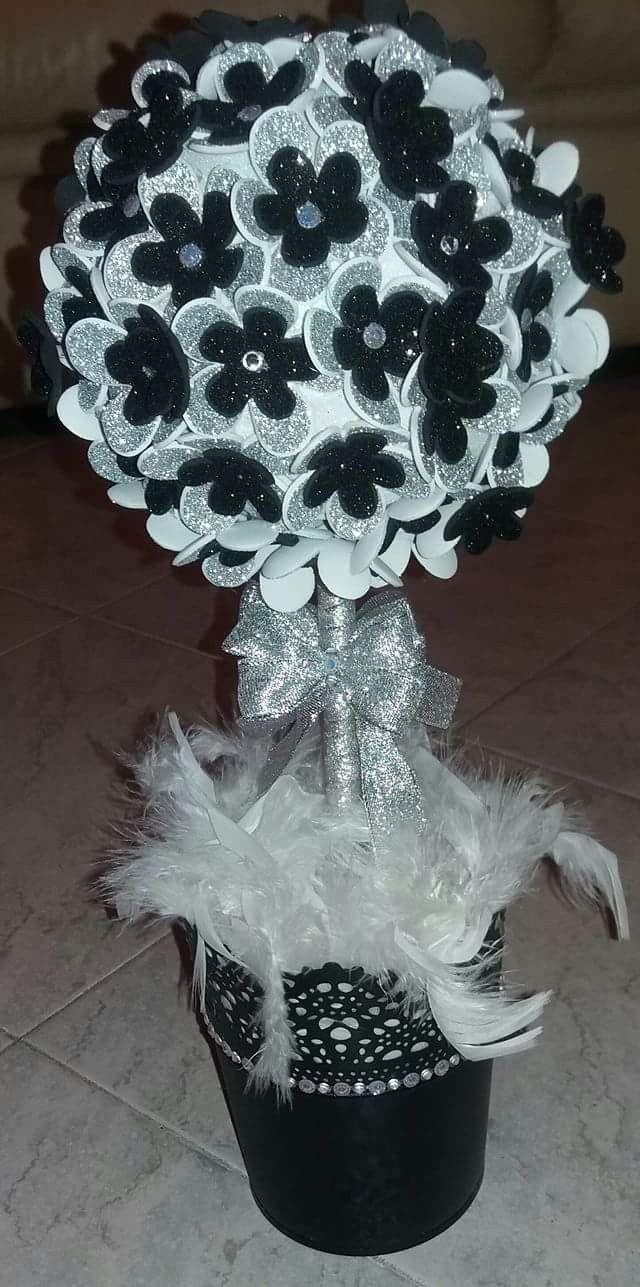 Vasetto fiori glitter