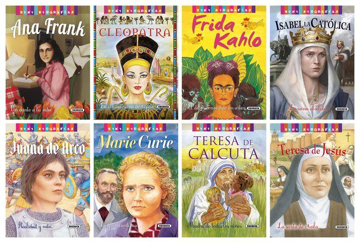 """Colección """"Mini biografías"""" (Editorial Susaeta)  #MujeresDeLaHistoria"""