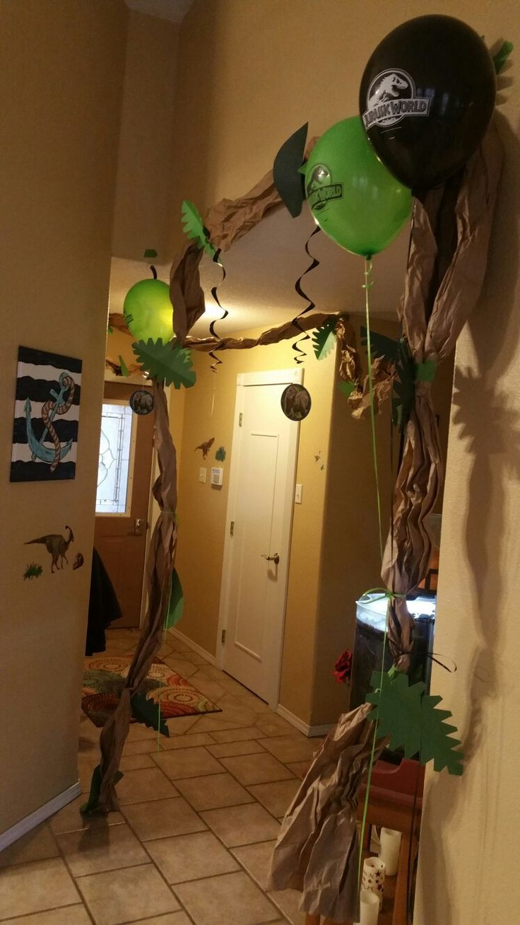 Dino party. Jurassic world party decorations. Craft paper