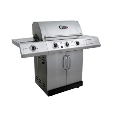 Char-Broil Gourmet 3-Burner TRU-Infrared Propane Gas Grill with Side Burner-463251713 at The Home Depot: 3Burner, Gourmet 3 Burner, Homes Depot, 3 Burner Tru Infrar, Charli Broil Gourmet, Lp Grilled, Charbroil Gourmet, Gifts Idea, Gas Grilled