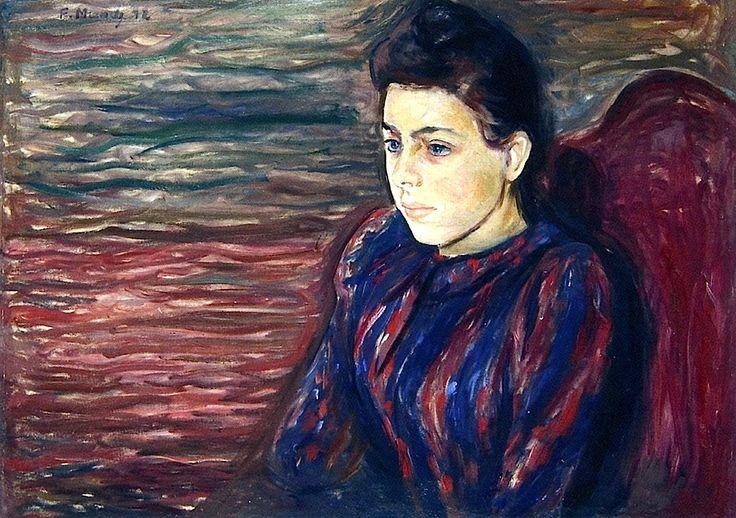 bofransson:  Inger in Black and Violet Edvard Munch - 1892