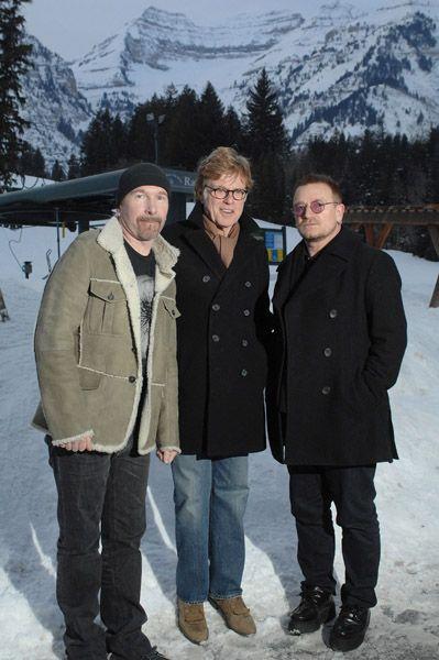 Robert Redford at Sundance 2014 | Sundance Film Festival Robert Redford, The Edge and Bono at Sundance ...