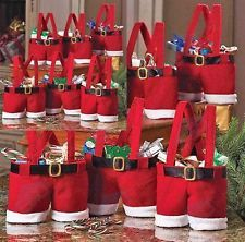 Christmas Santas Claus Pants Gift Bag. Lve this idea - just need the right coloured fabric!