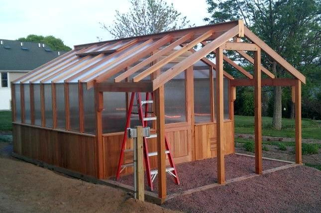 Shed-greenhouse kits