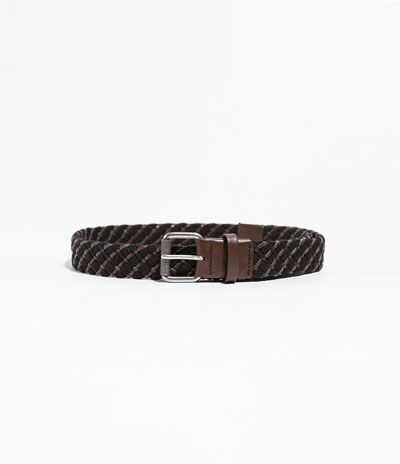 LEATHER AND ELASTIC BRAIDED BELT