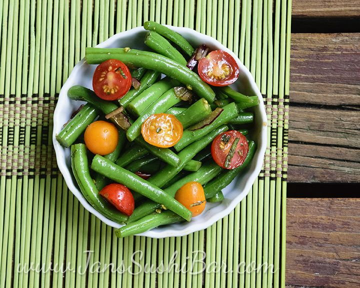 Green Bean and Tomato Salad | Beans | Pinterest