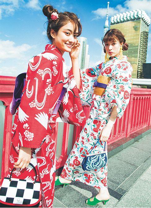 浴衣,ViViモデル,八木アリサ,谷まりあ,ファッション,vivi7月号